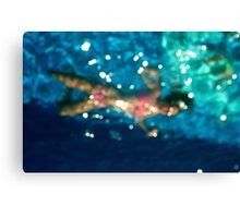 Trapped in water Canvas Print