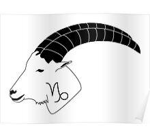 Capricorn Goat Poster