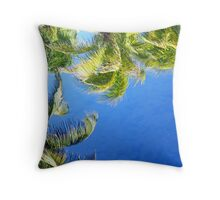 Nature in Blue and Green Throw Pillow