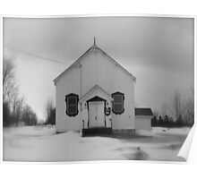 Winterland/ Rural Church...CANADIAN CULTURE CAPTURED Poster