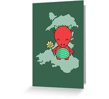 Little Welsh Dragon Greeting Card