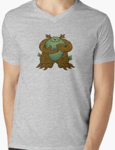 Green Man Mens V-Neck T-Shirt