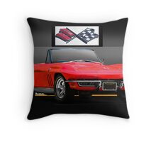 1965 Chevrolet Corvette Convertible Throw Pillow