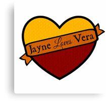 Jayne Loves Vera Canvas Print