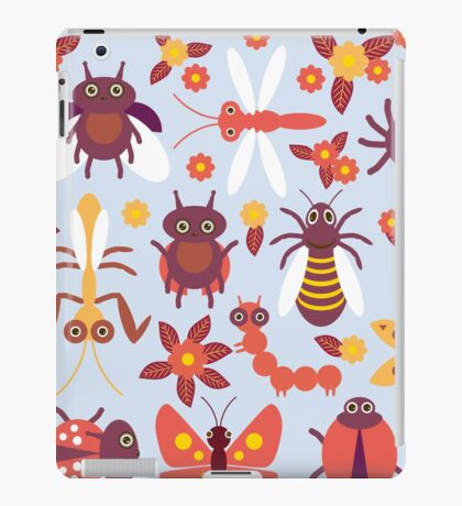 Funny insects Spider butterfly caterpillar dragonfly mantis beetle wasp ladybugs  iPad Case/Skin