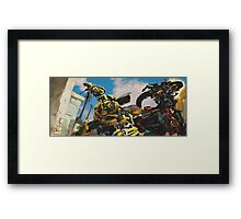Bumblebeee fight Framed Print