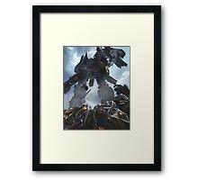 Power Up optimus prime Framed Print