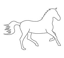 Horse Outline Photographic Print