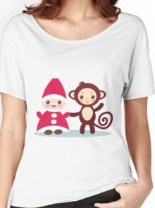 gnome and monkey  Women's Relaxed Fit T-Shirt