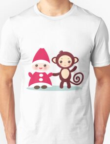 gnome and monkey  T-Shirt