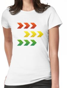 Reggae Style Arrows Womens Fitted T-Shirt
