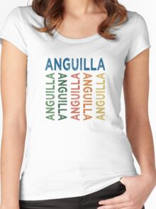 Anguilla Cute Colorful Women's Fitted Scoop T-Shirt