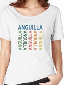 Anguilla Cute Colorful Women's Relaxed Fit T-Shirt