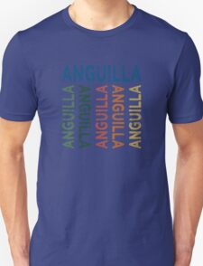 Anguilla Cute Colorful Unisex T-Shirt