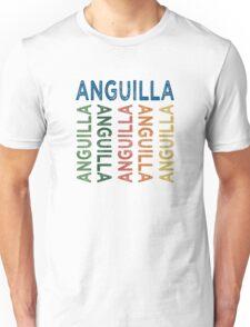 Anguilla Cute Colorful Unisex T-Shirt