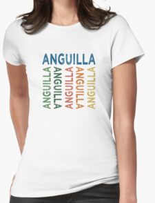 Anguilla Cute Colorful Womens Fitted T-Shirt