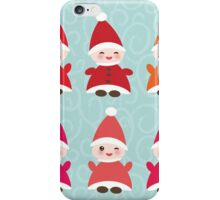 Merry Christmas, Happy New Year card, Funny gnomes iPhone Case/Skin