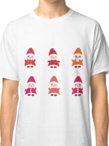 Merry Christmas, Happy New Year card, Funny gnomes Classic T-Shirt