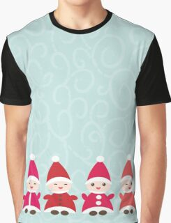 Merry Christmas, Happy New Year card, Funny gnomes Graphic T-Shirt