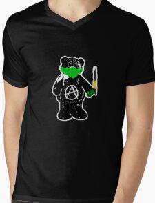 Anarchy Bear Mens V-Neck T-Shirt