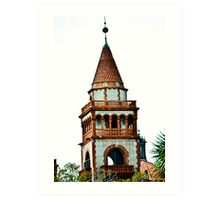 Flagler College turret (once the Ponce de Leon Hotel) Art Print