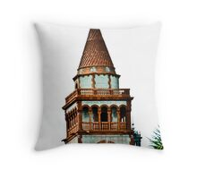 Flagler College turret (once the Ponce de Leon Hotel) Throw Pillow