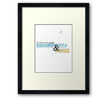 Paintbrushes and Booze design Framed Print