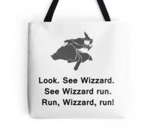 Miscellaneous - run, wizzard, run - gray Tote Bag