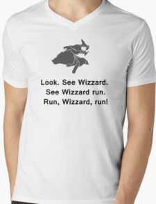 Miscellaneous - run, wizzard, run - gray Mens V-Neck T-Shirt