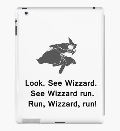 Miscellaneous - run, wizzard, run - gray iPad Case/Skin