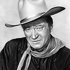 John Wayne drawing by John Harding
