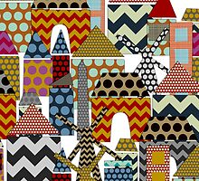 geo town (card) by Sharon Turner