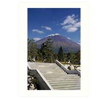 Stairway to Mt. Fuji Art Print
