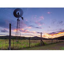 Sunsets and Windmills Photographic Print