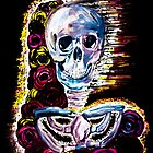 skulls and flowers by MadVonD