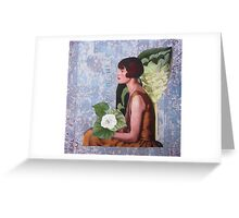 The Girl in The Pearl Necklace Greeting Card