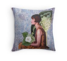 The Girl in The Pearl Necklace Throw Pillow