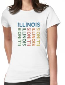 Illinois Cute Colorful Womens Fitted T-Shirt
