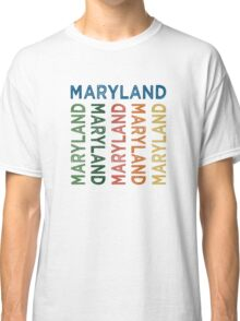 Maryland Cute Colorful Classic T-Shirt