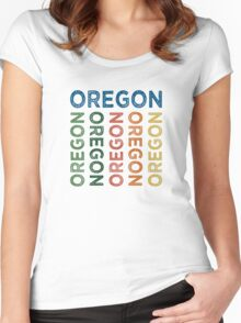 Oregon Cute Colorful Women's Fitted Scoop T-Shirt