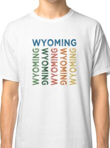 Wyoming Cute Colorful Classic T-Shirt