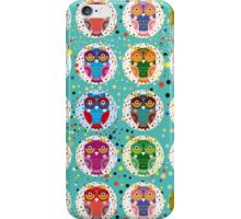 funny colorful owls iPhone Case/Skin