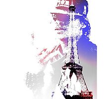 Les Twins/Laurent Eiffel Tower by dominique duva