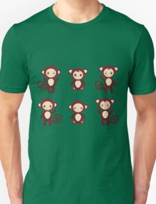 funny brown monkey  T-Shirt
