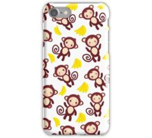 funny brown monkey  iPhone Case/Skin
