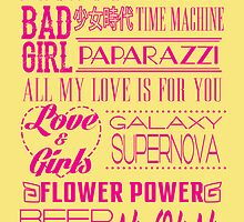 SNSD - JPN. Singles Typography by ares2424
