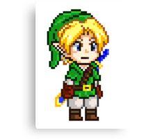 Legend of Zelda - Link Pixel Canvas Print