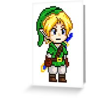 Legend of Zelda - Link Pixel Greeting Card
