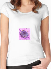 African Daisy or Osteospermum Tropical Flower Women's Fitted Scoop T-Shirt