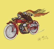 STEAMPUNK INDIAN STYLE MOTORCYCLE T SHIRT Kids Clothes